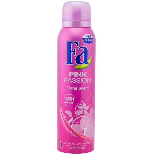اسپری زنانه فا مدل Pink Passion حجم ۱۵۰ میلی لیتر