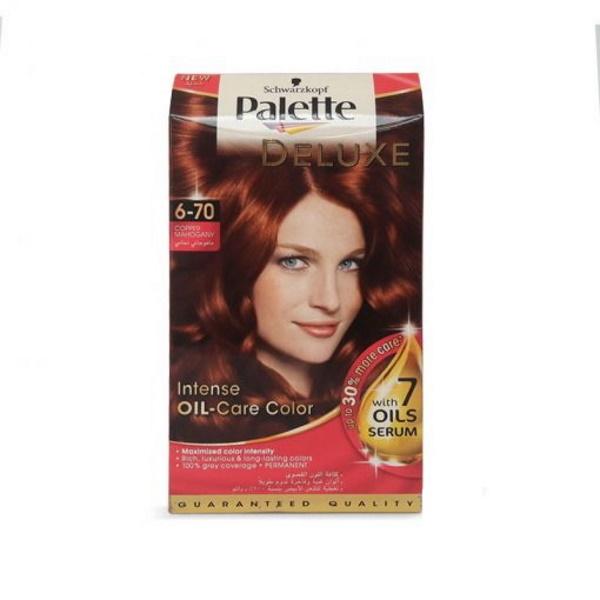 کیت رنگ موی پالت مسی ماهاگونی Palette Deluxe 6-70