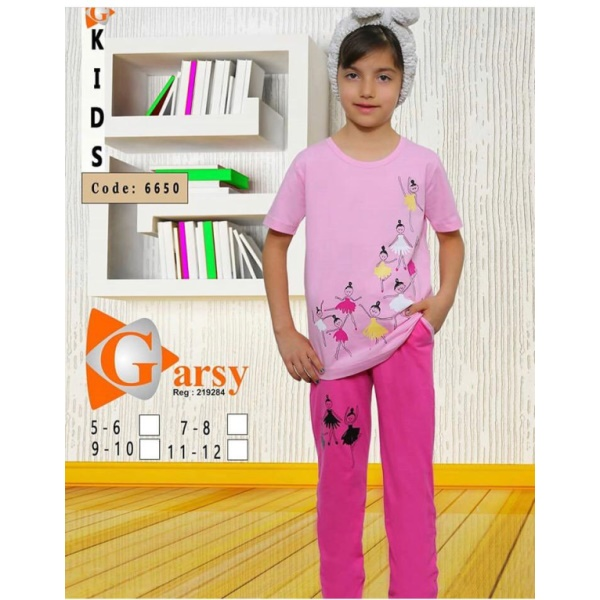 لباس دخترانه گارسی کد 6650