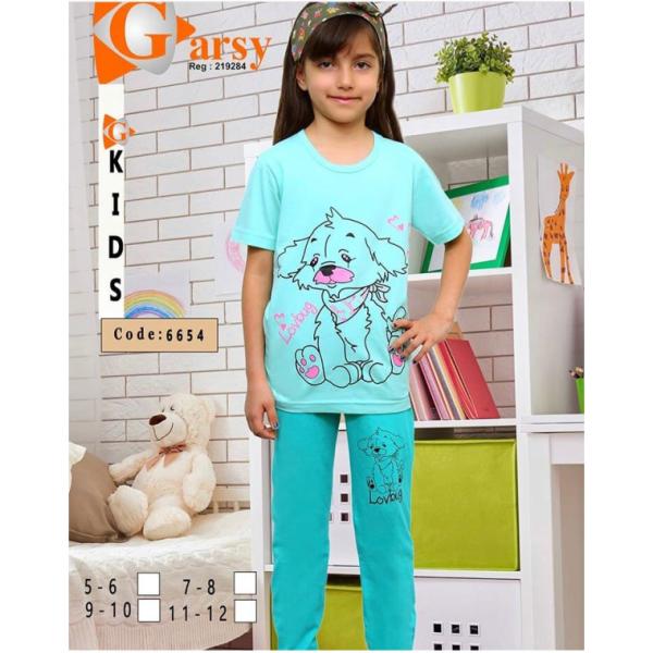 لباس دخترانه گارسی کد 6654