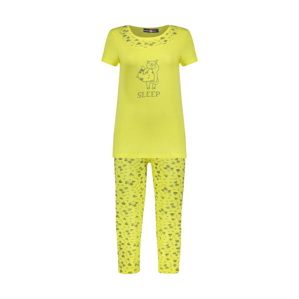 ست تی شرت و شلوار راحتی زنانه جامه پوش آرا مدل ۴۰۳۲۰۱۷۳۷۴-۱۶