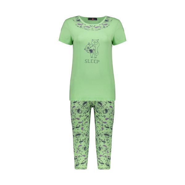ست تی شرت و شلوار راحتی زنانه جامه پوش آرا مدل ۴۰۳۲۰۱۷۳۷۴-۴۳