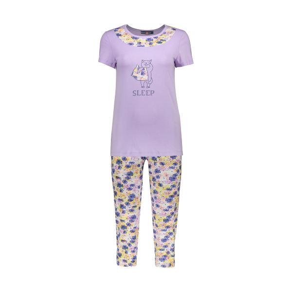 ست تی شرت و شلوار راحتی زنانه جامه پوش آرا مدل ۴۰۳۲۰۱۷۳۷۴-۶۷