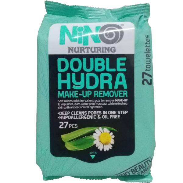 دستمال مرطوب نینو مدل Double Hydra بسته ۲۷ عددی