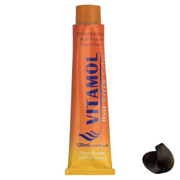 رنگ مو گیاهی ویتامول سری Cacao مدل Medium Blonde شماره ۷٫۵۳