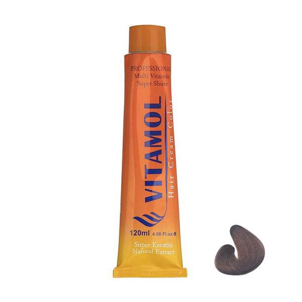 رنگ مو ویتامول شماره ۵٫۸ حجم ۱۲۰ میلی لیتر رنگ قهوه ای شکلاتی روشن